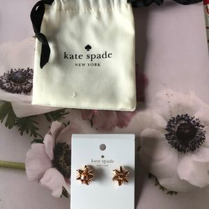 Brand new with tags Kate Spade earrings. Rose gold